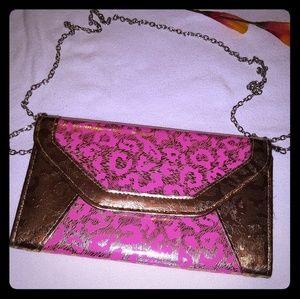 Handbags - Women's Pink/Gold wristlet/clutch